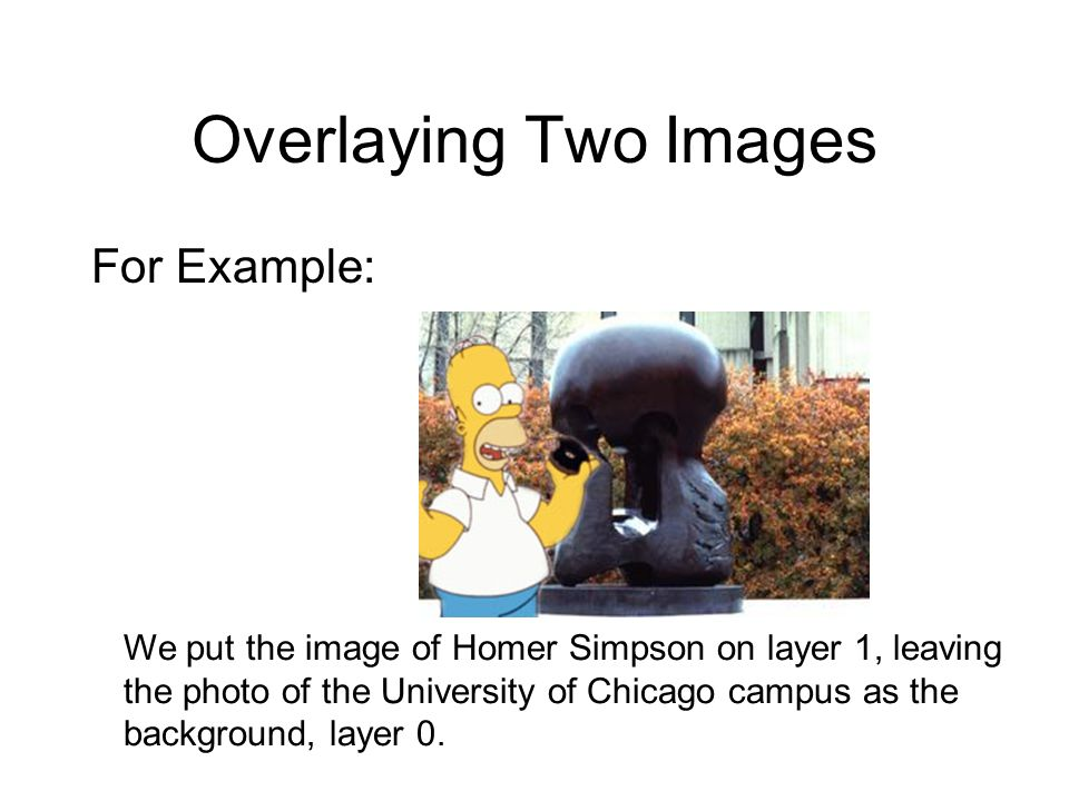 Overlaying Two Images For Example: