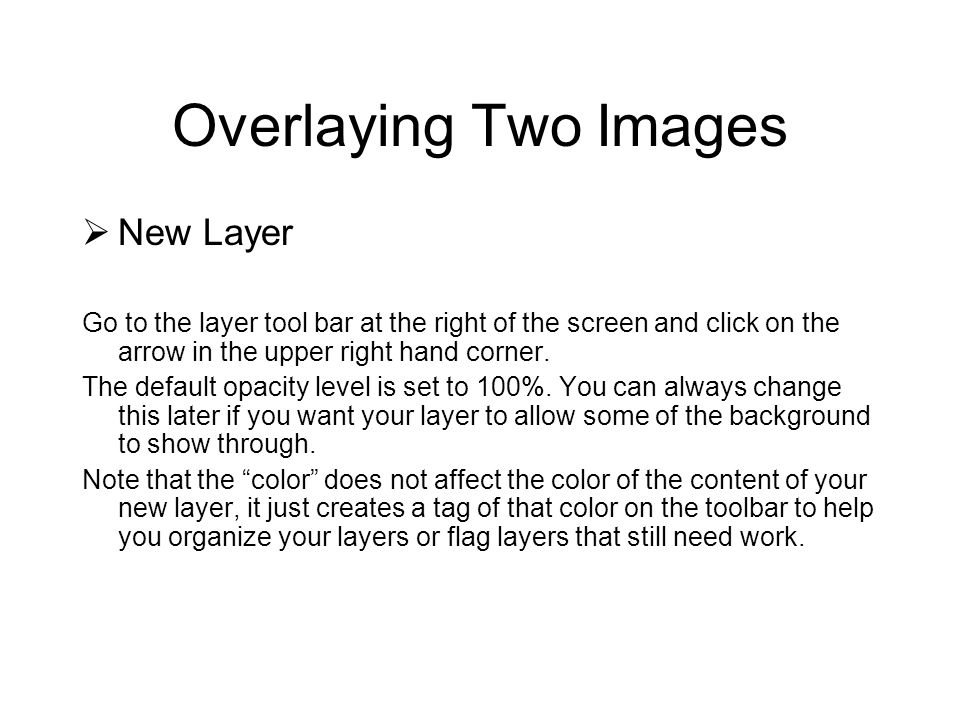 Overlaying Two Images New Layer