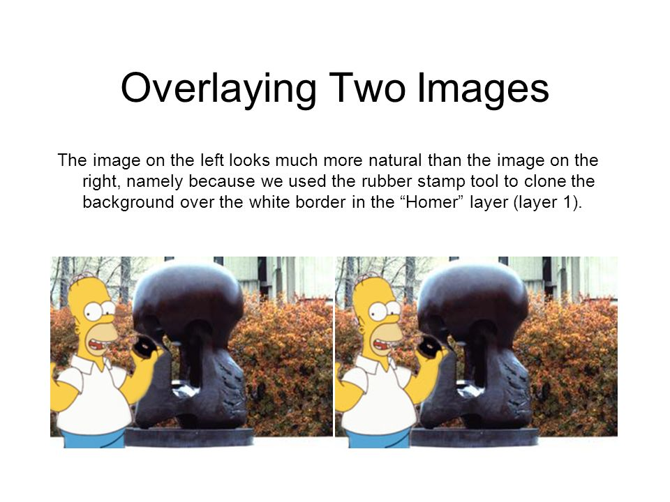 Overlaying Two Images