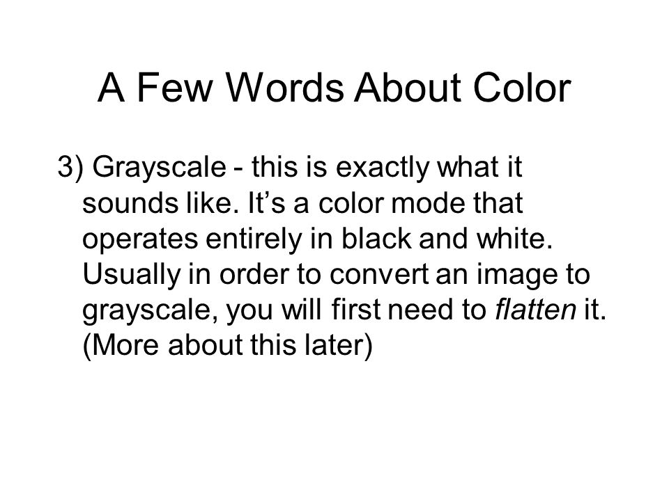 A Few Words About Color