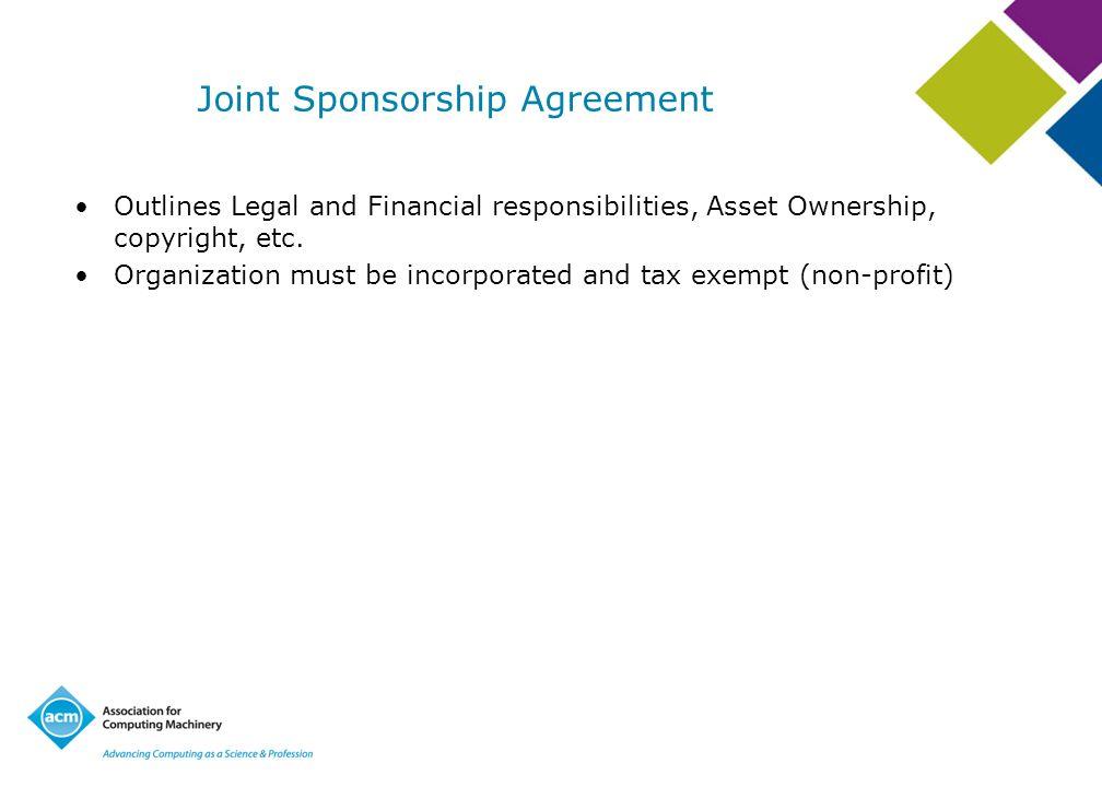 Joint Sponsorship Agreement