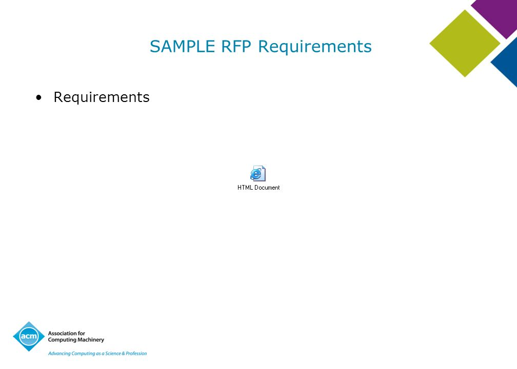 SAMPLE RFP Requirements