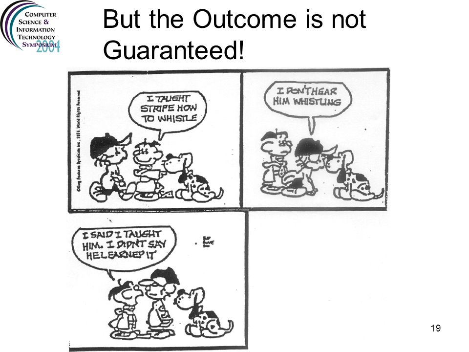 But the Outcome is not Guaranteed!