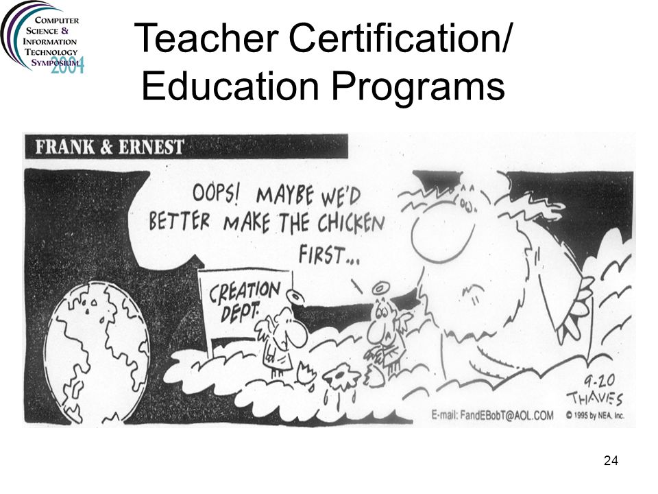 Teacher Certification/ Education Programs