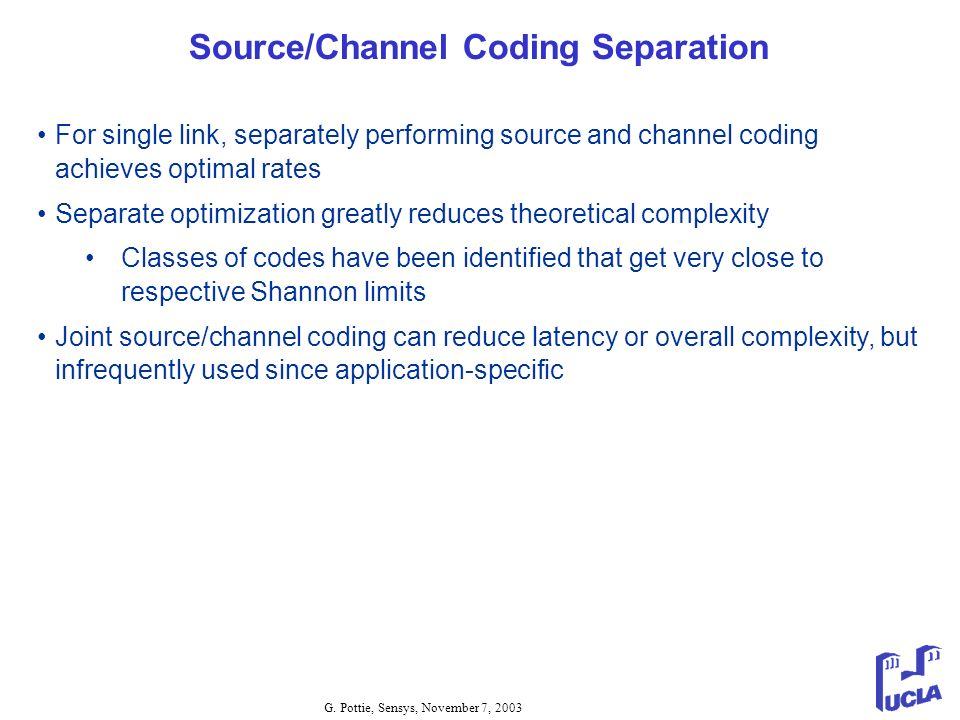 Source/Channel Coding Separation