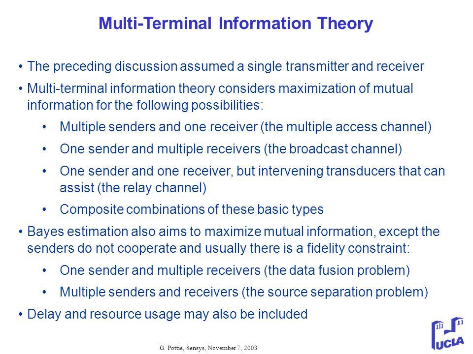 Multi-Terminal Information Theory