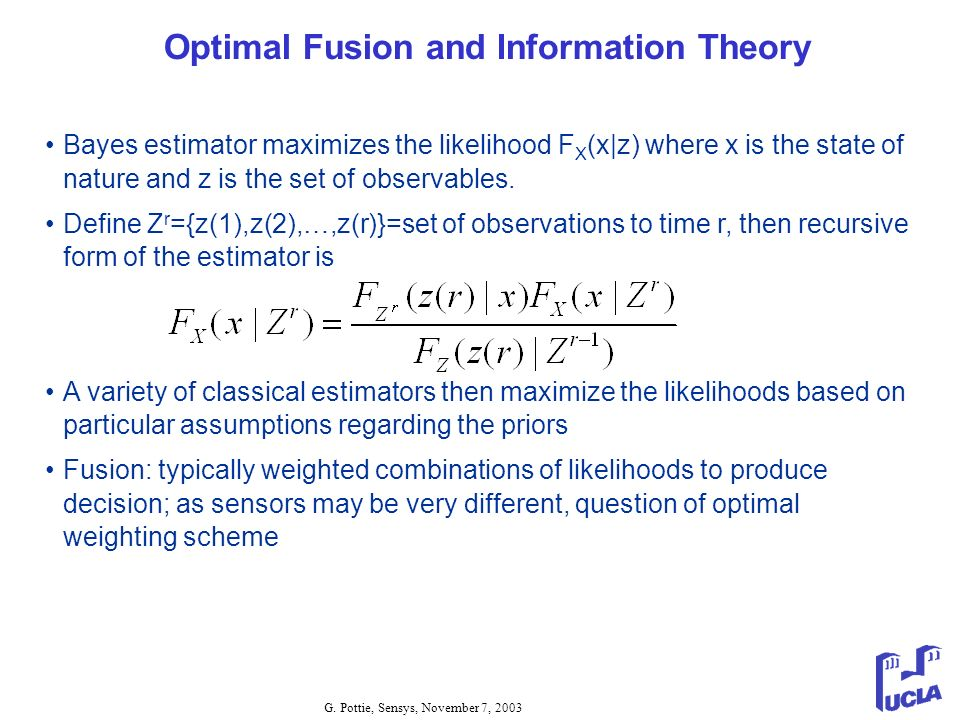 Optimal Fusion and Information Theory