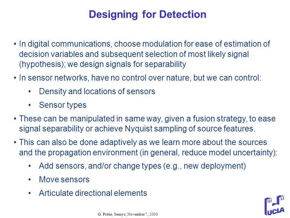 Designing for Detection