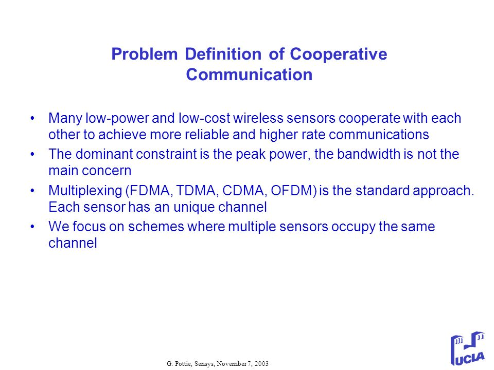 Problem Definition of Cooperative Communication