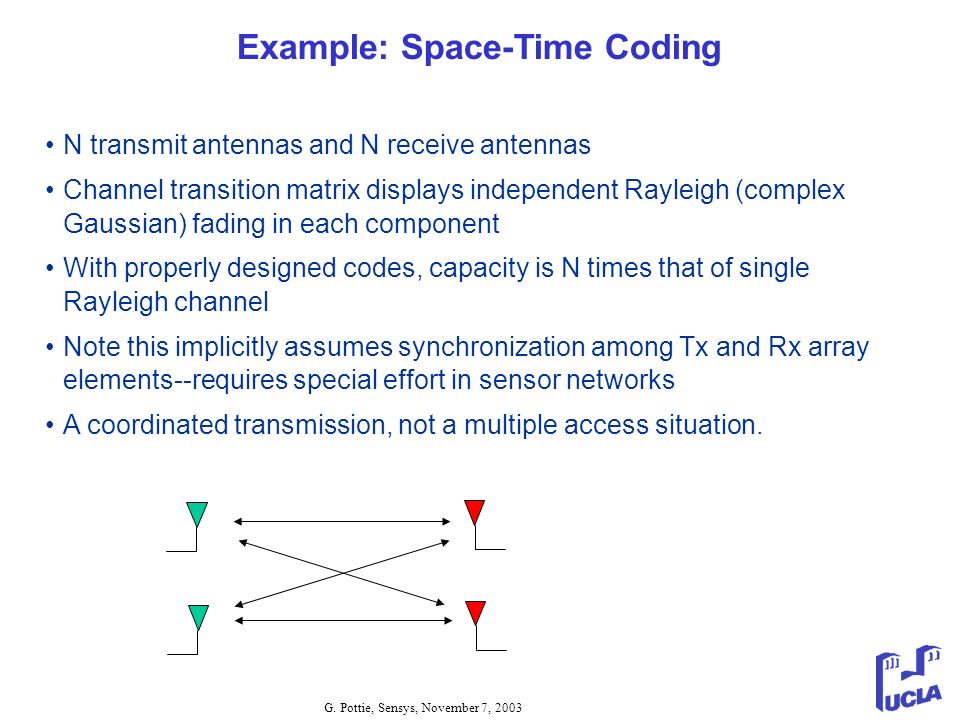 Example: Space-Time Coding