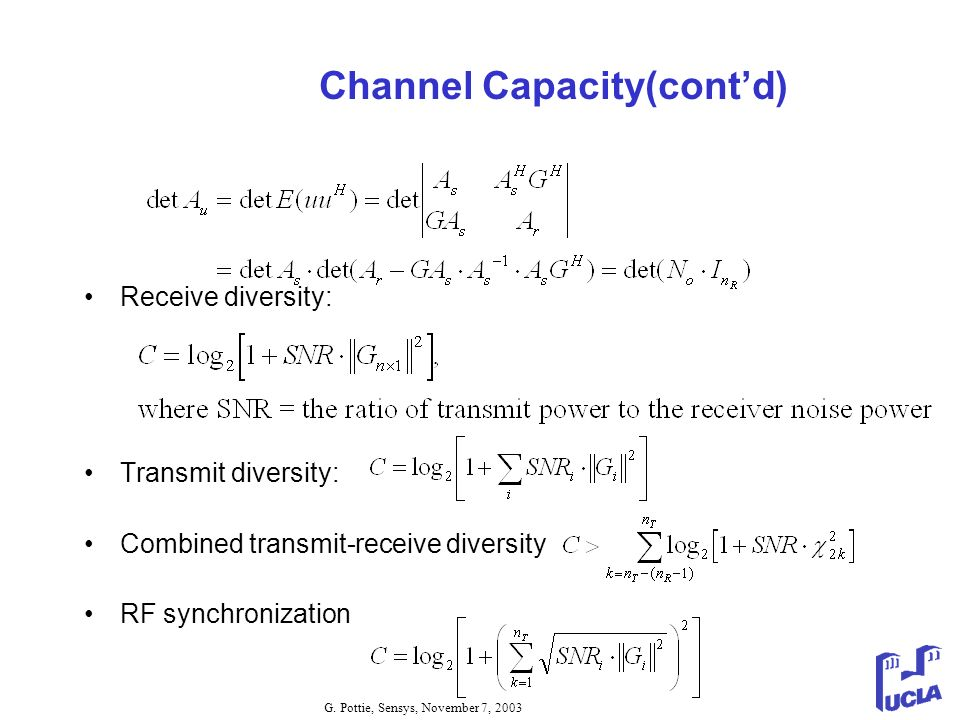 Channel Capacity(cont'd)