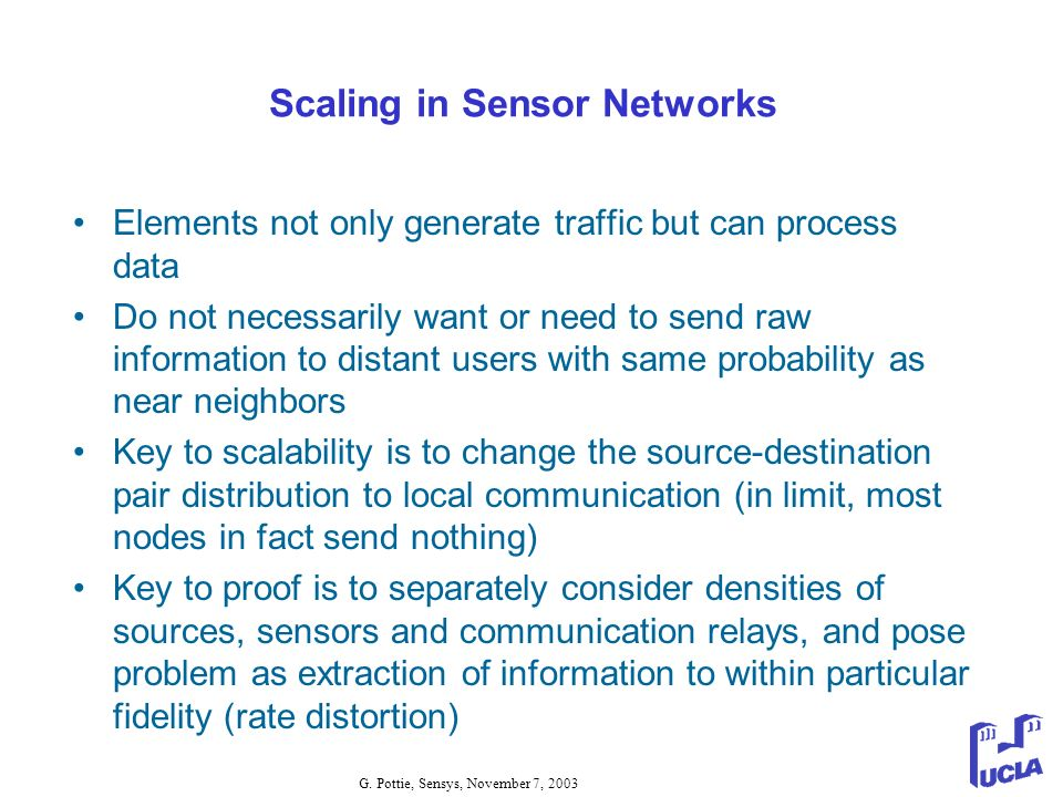 Scaling in Sensor Networks