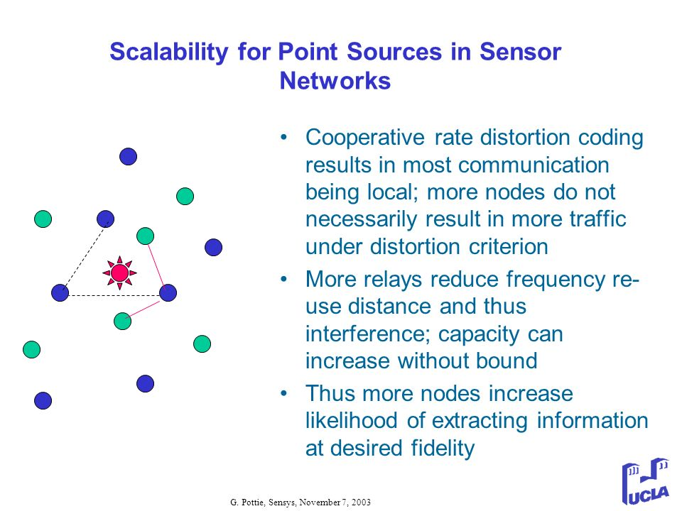 Scalability for Point Sources in Sensor Networks
