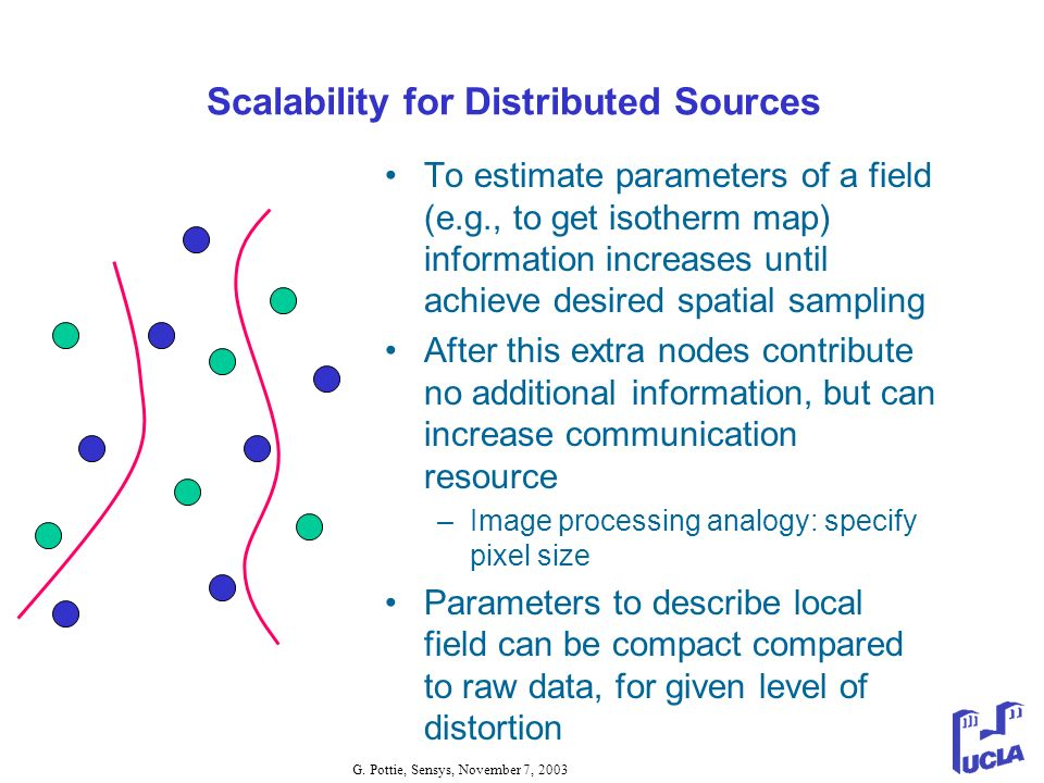 Scalability for Distributed Sources