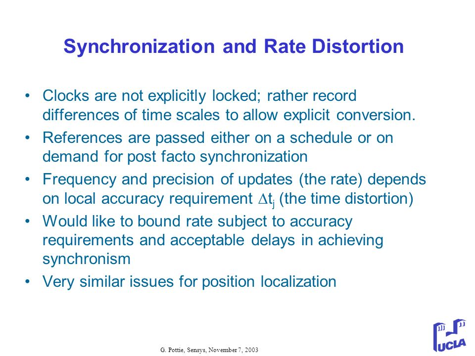 Synchronization and Rate Distortion