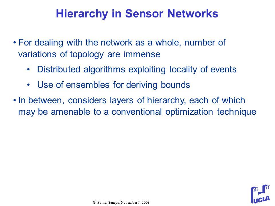 Hierarchy in Sensor Networks