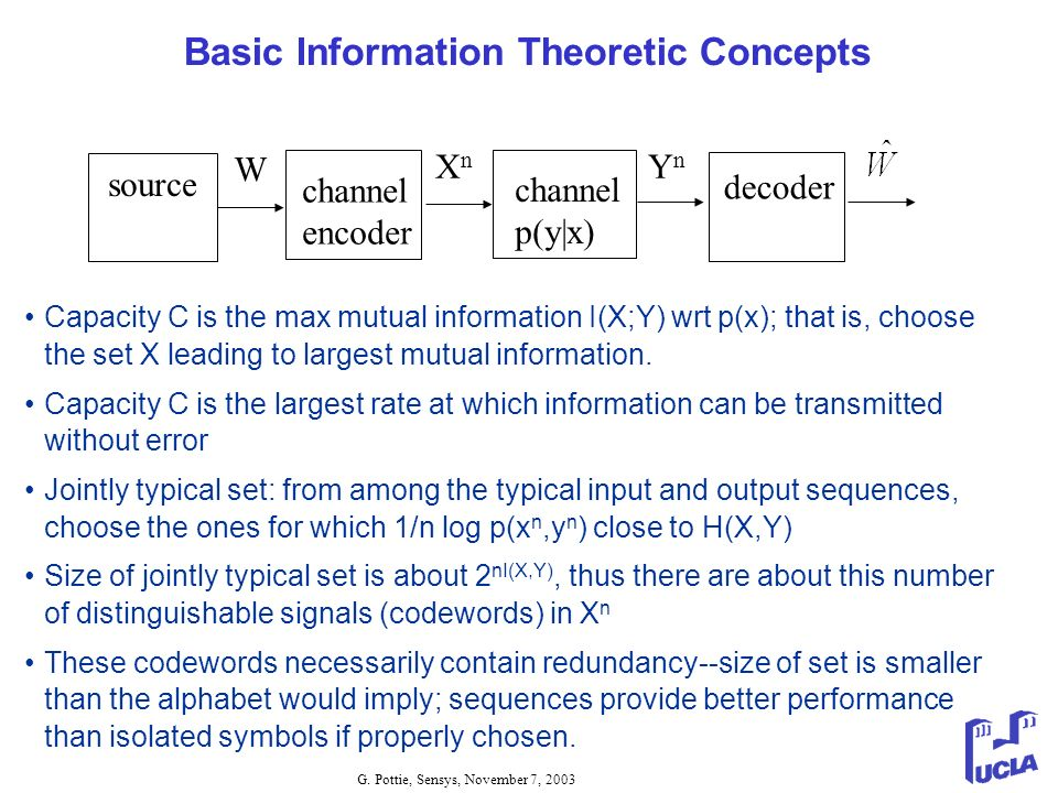 Basic Information Theoretic Concepts