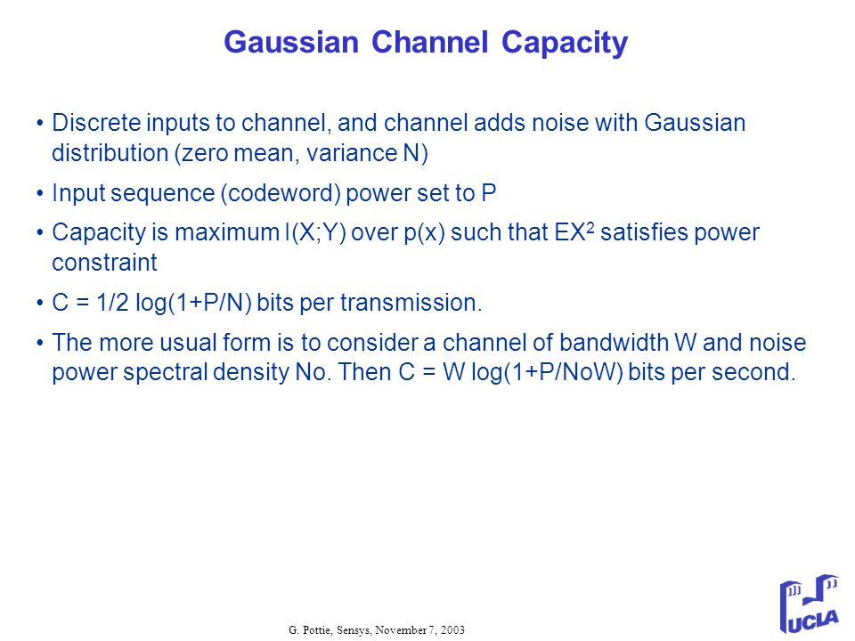 Gaussian Channel Capacity