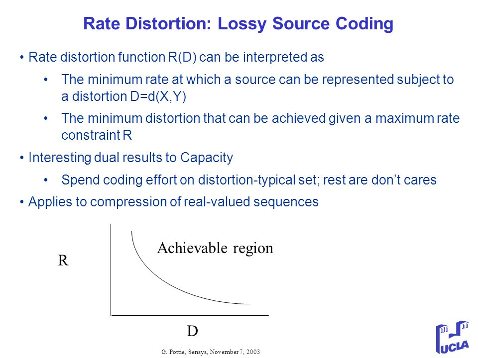 Rate Distortion: Lossy Source Coding