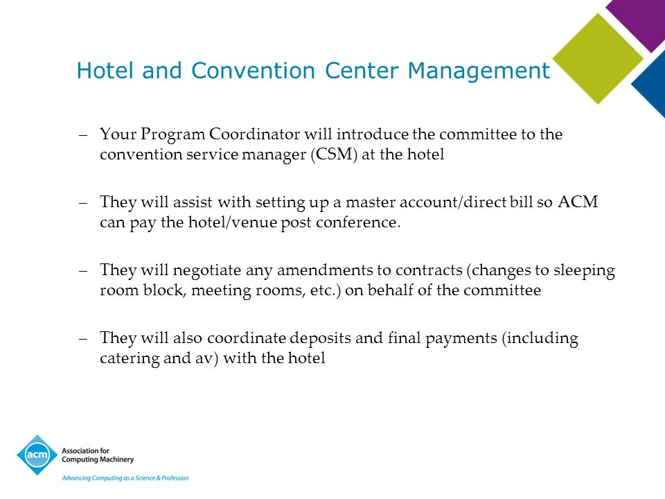 Hotel and Convention Center Management