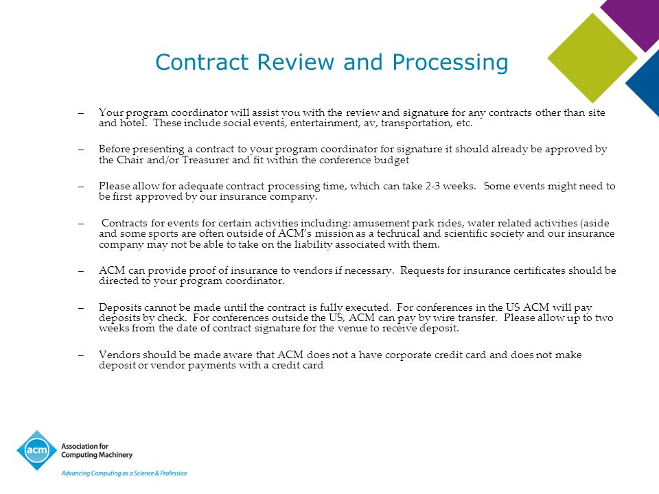Contract Review and Processing