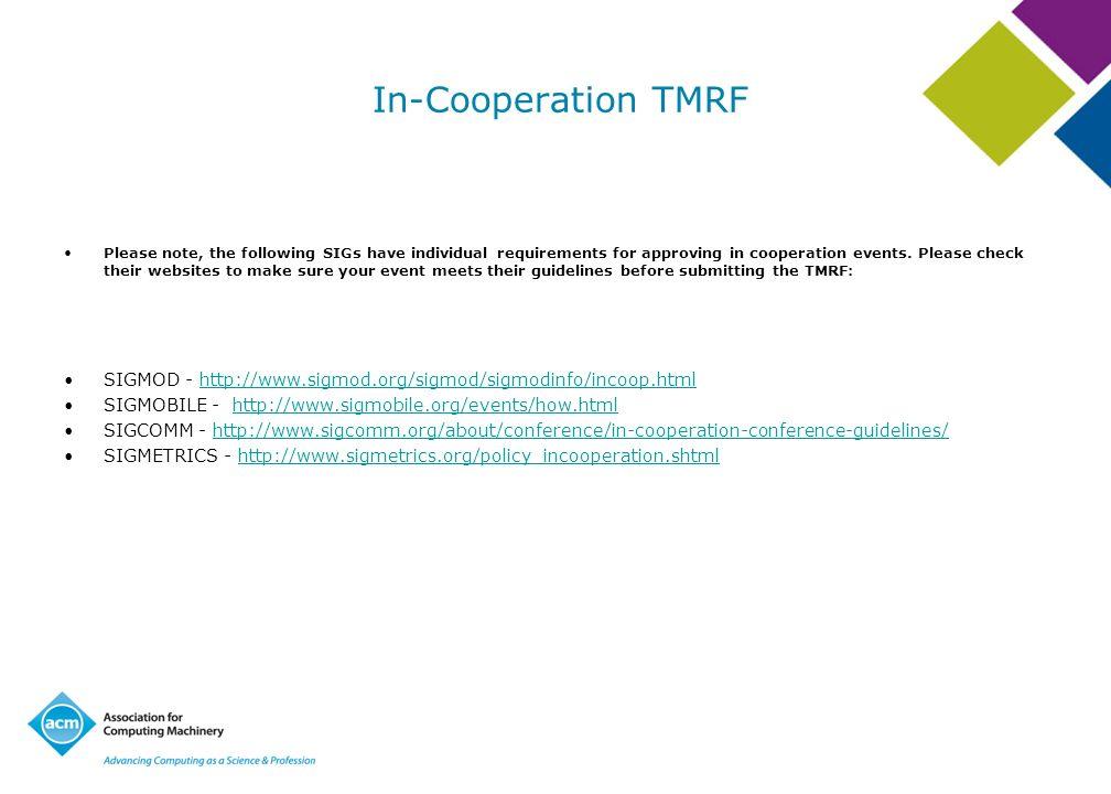 In-Cooperation TMRF