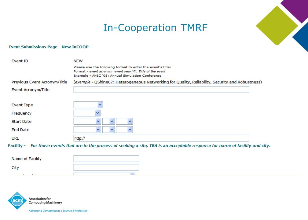 In-Cooperation TMRF Glance at the In-Cooperation TMRF