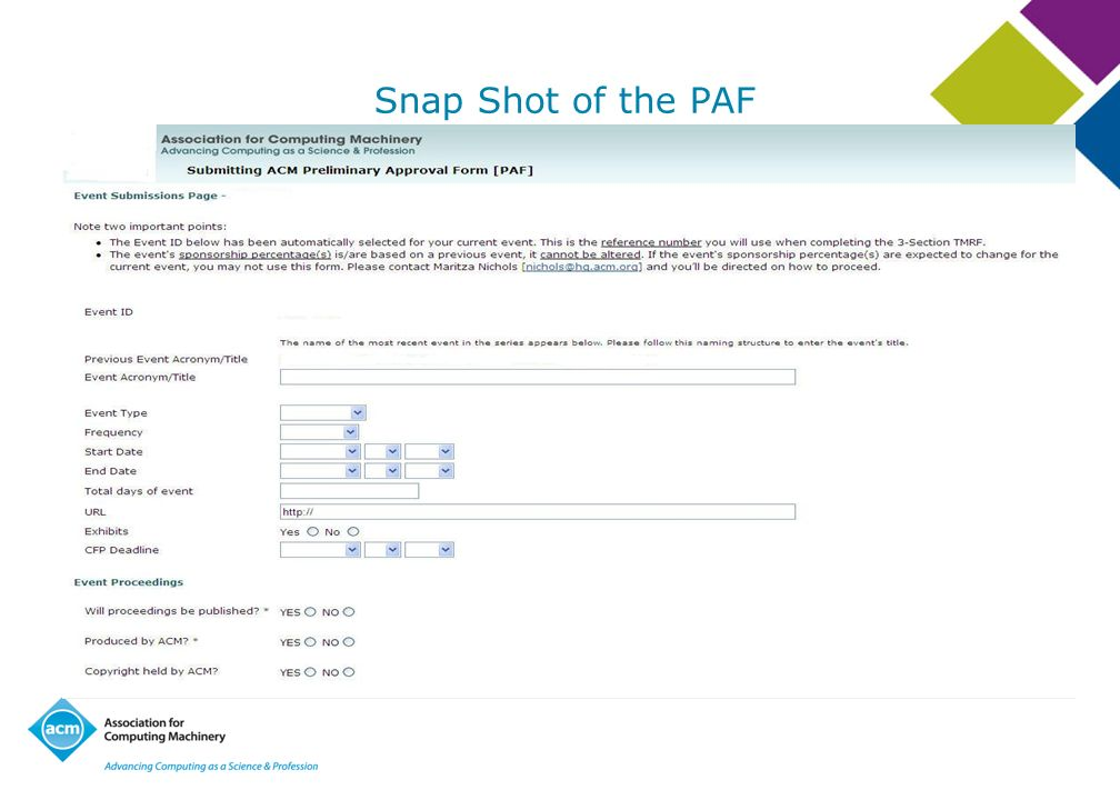 Snap Shot of the PAF