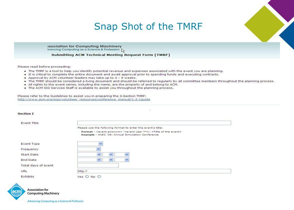 Snap Shot of the TMRF