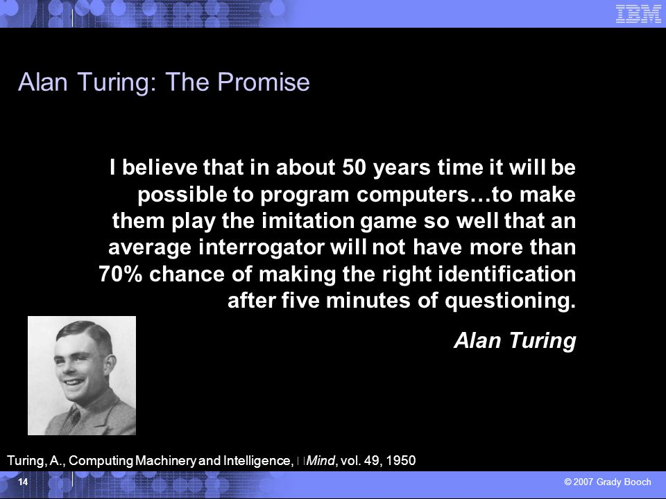 Alan Turing: The Promise