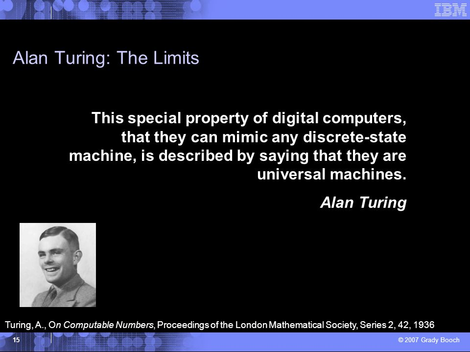 Alan Turing: The Limits