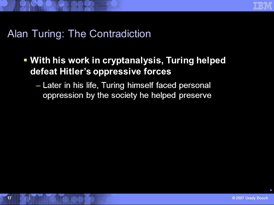 Alan Turing: The Contradiction