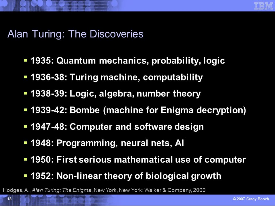 Alan Turing: The Discoveries