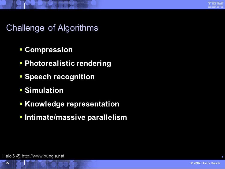 Challenge of Algorithms