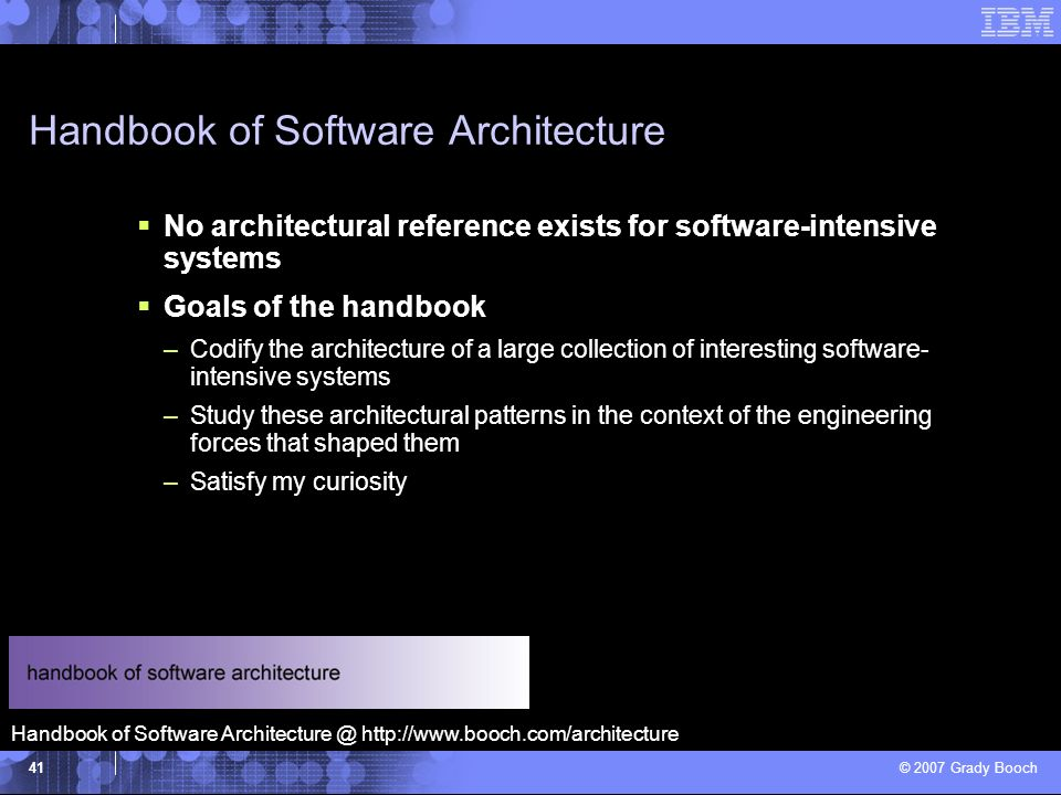 Handbook of Software Architecture