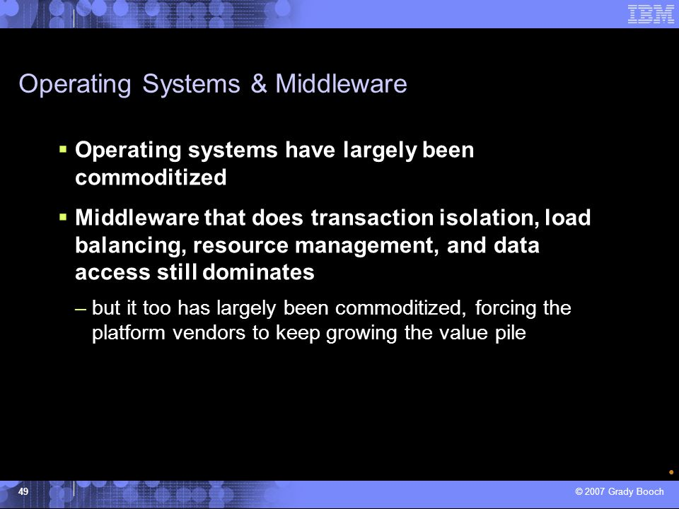Operating Systems & Middleware