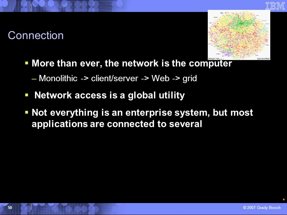 Connection More than ever, the network is the computer