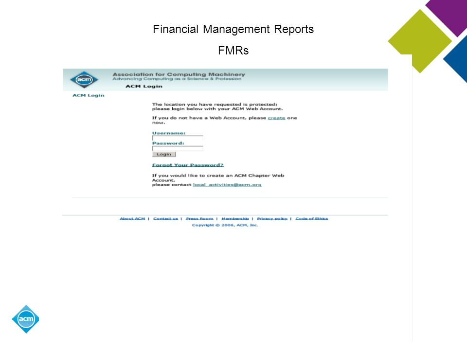 Financial Management Reports
