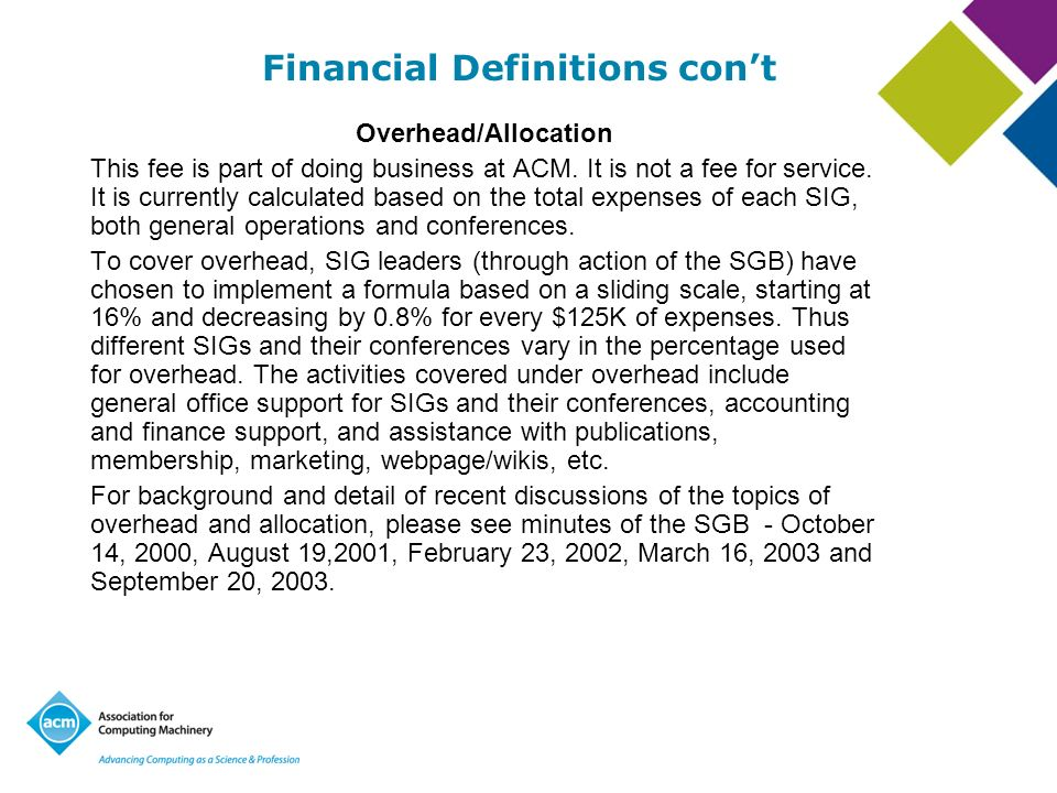 Financial Definitions con't