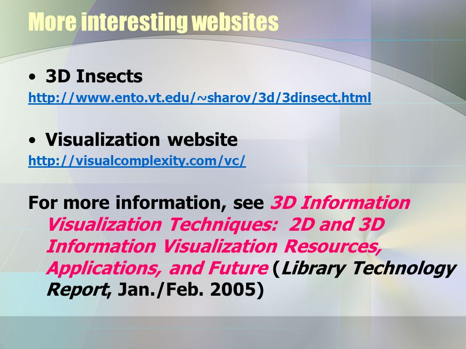 More interesting websites