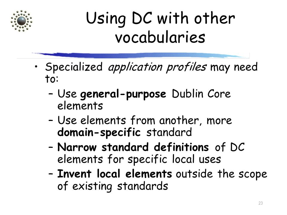 Using DC with other vocabularies