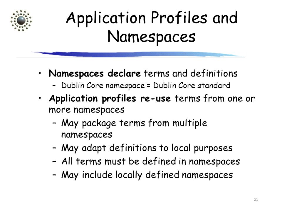 Application Profiles and Namespaces