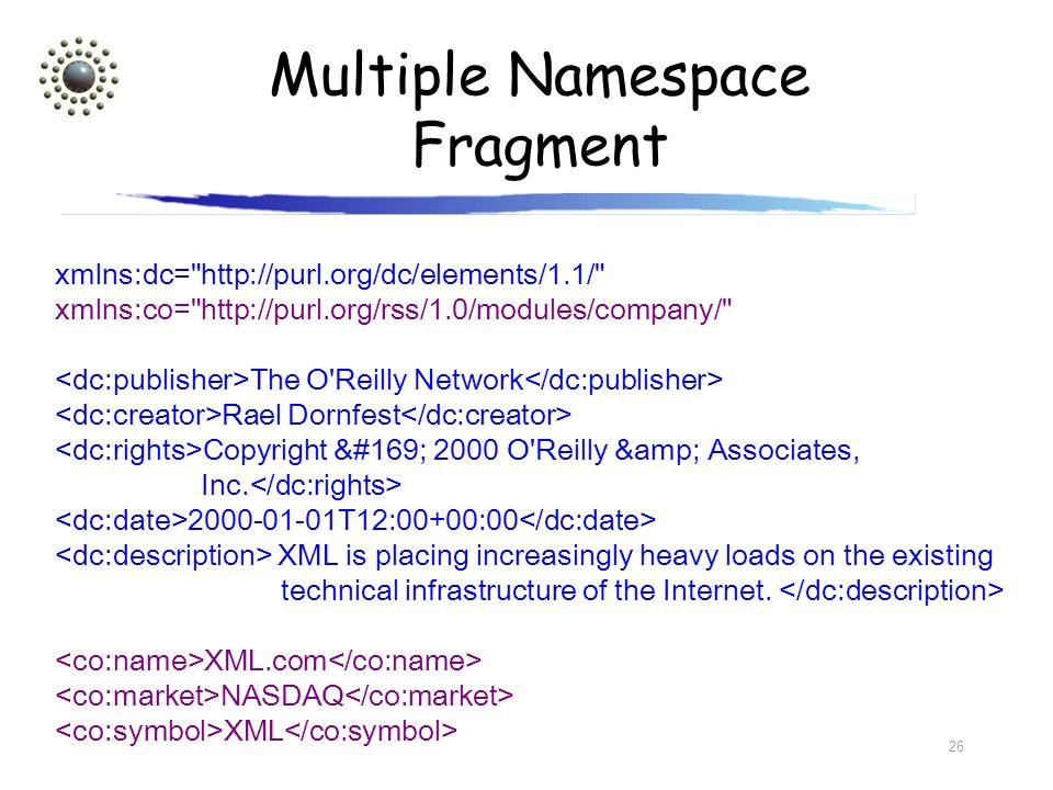 Multiple Namespace Fragment