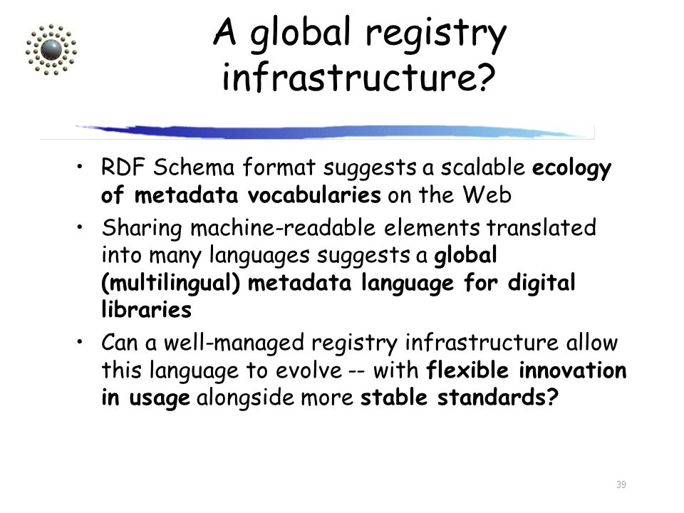 A global registry infrastructure