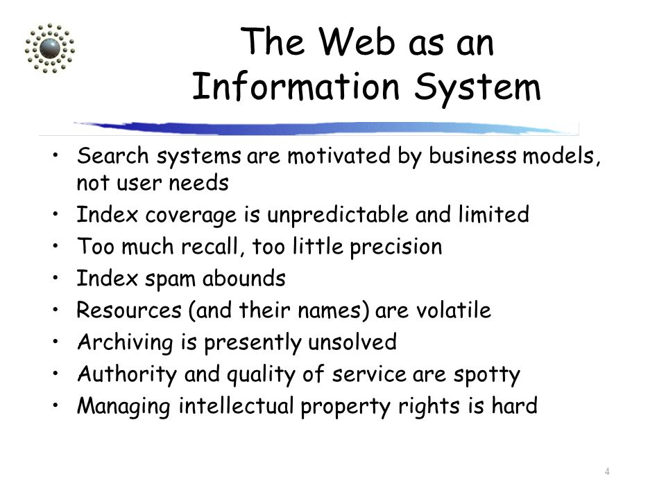 The Web as an Information System