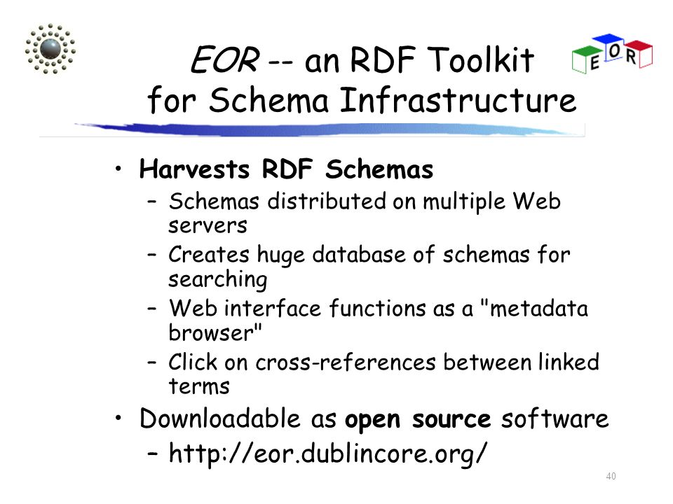 EOR -- an RDF Toolkit for Schema Infrastructure