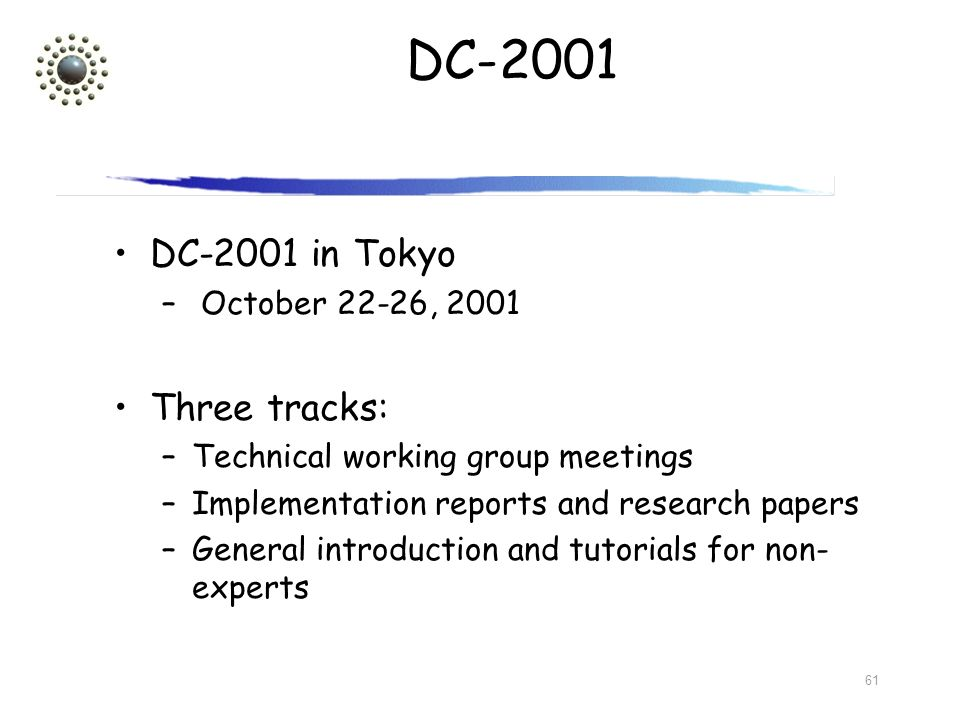 DC-2001 DC-2001 in Tokyo Three tracks: October 22-26, 2001