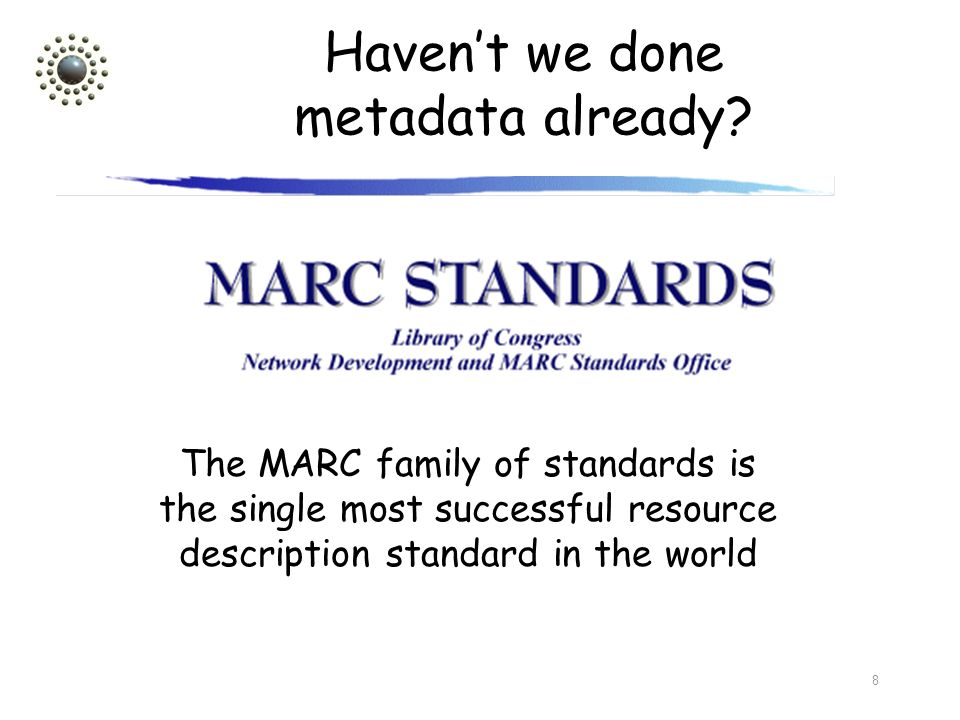 Haven't we done metadata already