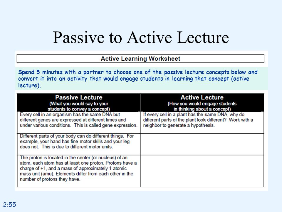 Passive to Active Lecture