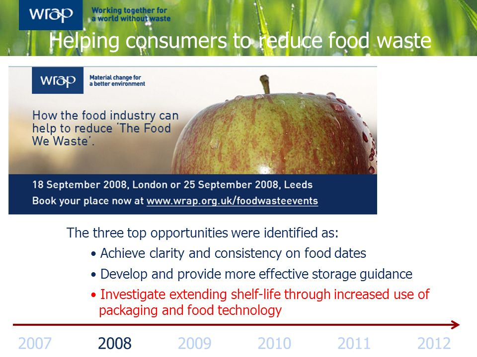 Helping consumers to reduce food waste